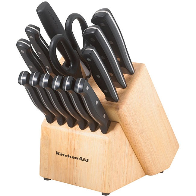 kitchenaid 16 piece cutlery set free shipping today