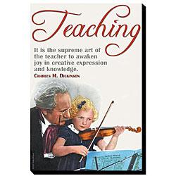 'The Supreme Art of the Teacher' Giclee Canvas Art