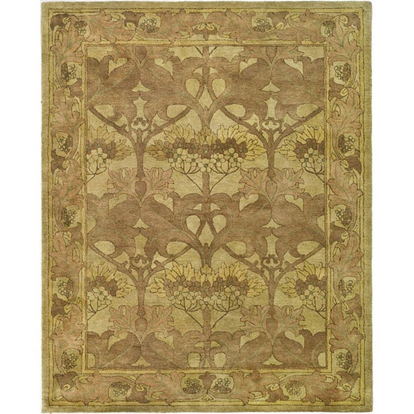 Safavieh Handmade Arts And Craft Beige Wool Rug