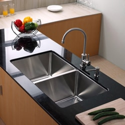 Kraus Kitchen Combo Set Stainless Steel 33 -inch Undermount Sink /Faucet