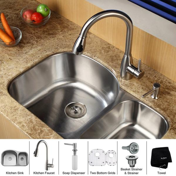 nirlep kitchen combo set of 4 stainless steel sink faucet online shopping target