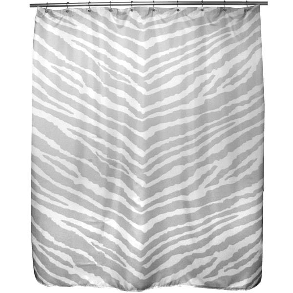 Zebra Grey Shower Curtain. Opens flyout.