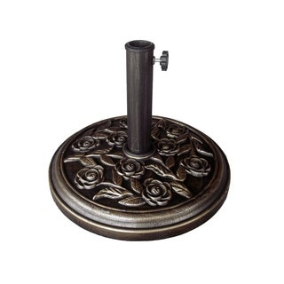 Bronze Rose Patio Umbrella Stand