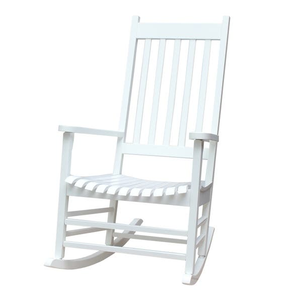 Awe Inspiring Shop Havenside Home Surfside Solid Wood Outdoor Rocking Bralicious Painted Fabric Chair Ideas Braliciousco