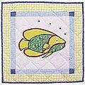 'Fun Fish' 16x16 Throw Pillows and Fillers (Set of 2)