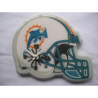 Durable Wood And Plastic Miami Dolphins Logo Helmet Analog