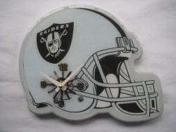 Oakland Raiders Helmet Clock - Thumbnail 1