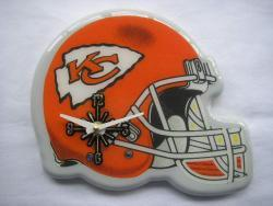 Collectible Red-and-white Kansas City Chiefs Helmet Analog Clock - Thumbnail 1