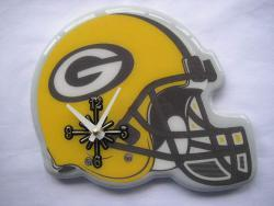 Green Bay Packers Helmet Clock - Thumbnail 1