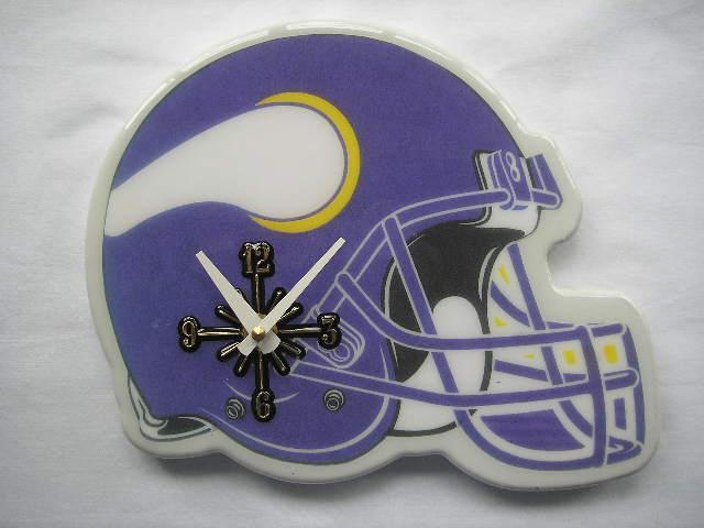 Minnesota Vikings Helmet Clock
