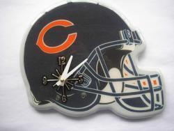 Chicago Bears Helmet Clock - Thumbnail 1