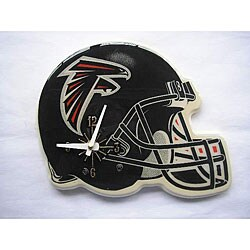 NFL Atlanta Falcons Helmet-shaped Wall-mountable Wooden Clock
