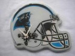 Carolina Panthers White and Blue Collectible Helmet-shaped Clock - Thumbnail 2