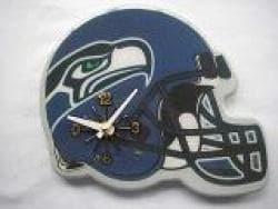 Blue Collectible Seattle Seahawks Football Helmet Analog Clock - Thumbnail 2