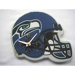 Blue Collectible Seattle Seahawks Football Helmet Analog Clock Overstock Com Shopping The Best Deals On Football
