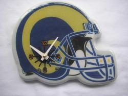 St. Louis Rams Wood/Plastic Handy Helmet-shaped Memorabilia Clock - Thumbnail 1