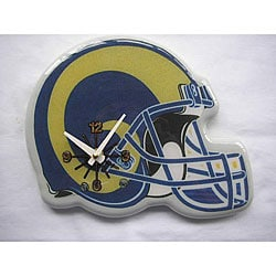 St. Louis Rams Wood/Plastic Handy Helmet-shaped Memorabilia Clock