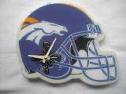 Denver Broncos Helmet Clock