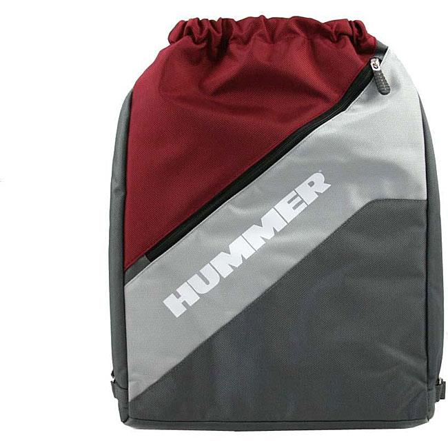 Hummer Baja BakSak Burgundy/Grey Laptop Backpack