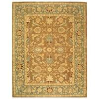 Safavieh Handmade Anatolia Oriental Legacy Brown/ Blue Hand-spun Wool Rug - 9'6 x 13'6