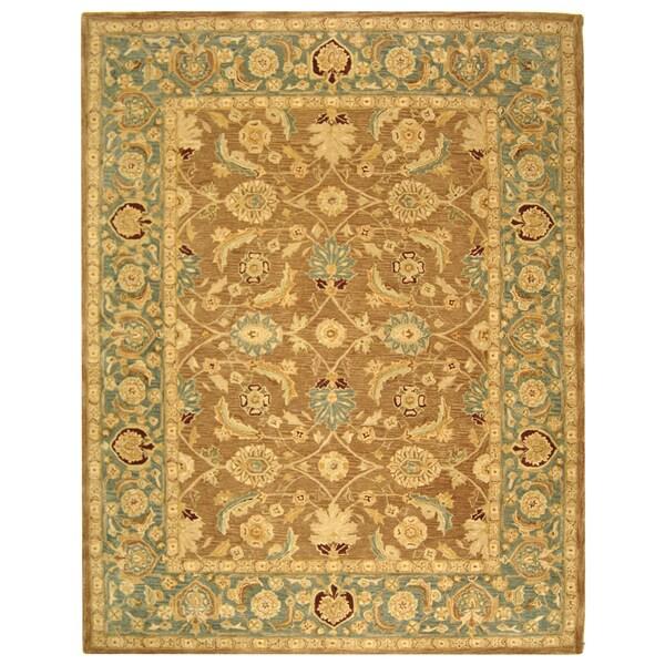 Safavieh Handmade Anatolia Oriental Legacy Brown/ Blue Hand-spun Wool Rug (9'6 x 13'6)