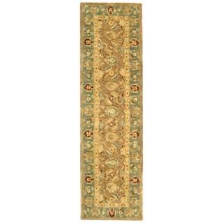 Safavieh Handmade Anatolia Oriental Legacy Brown/ Blue Hand-spun Wool Runner (2'3 x 10')