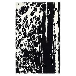 Safavieh Handmade Soho Modern Abstract Black/ White Wool Rug (5' x 8')