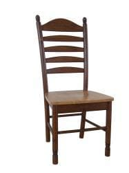 Solid Wood Tall Ladderback Chairs (Set of 2) - Thumbnail 1