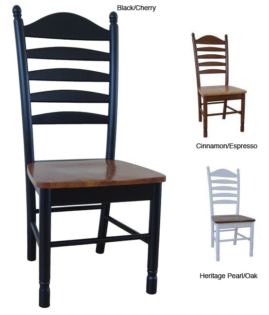 table ladder chairs solid wood tall set unfinished back for sale urban furniture review