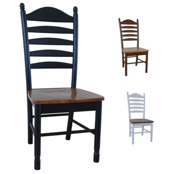 Perfect Solid Wood Tall Ladderback Chairs (Set Of 2)