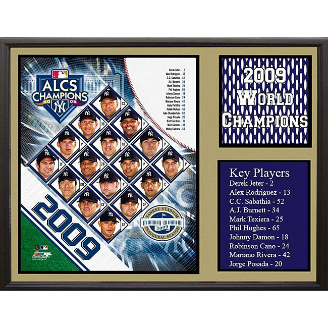 New York Yankees 2009 AL Champs Stat Frame
