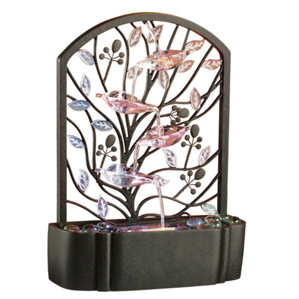 Homedics EnviraScape Island Garden Illuminated Relaxation Fountain