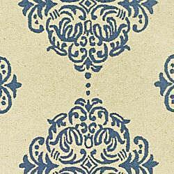 Safavieh Hand-hooked Miff Ivory/ Blue Wool Runner (2'6 x 10') - Thumbnail 2