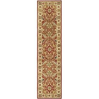 Safavieh Hand-hooked Chelsea Janay Country Oriental Wool Rug (26 x 10 Runner - Red/Ivory)
