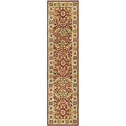 Safavieh Hand-hooked Kashan Red/ Ivory Wool Runner (2'6 x 6')