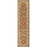 Safavieh Hand-hooked Kashan Red/ Ivory Wool Runner Rug - 2'6 x 6'