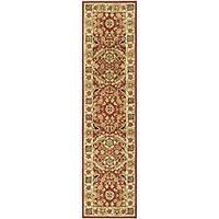 Safavieh Hand-hooked Kashan Red/ Ivory Wool Runner Rug - 2'6 x 8'