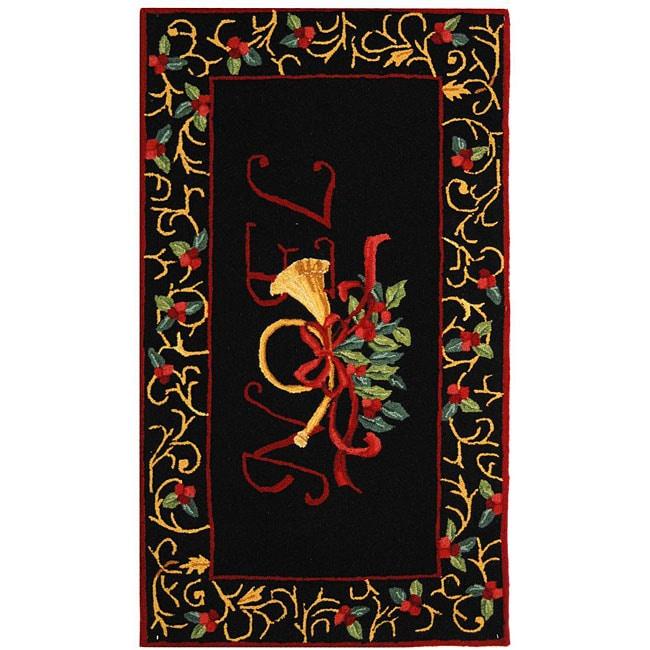 Safavieh Hand-hooked Noel Black Wool Rug (2'9 x 4'9)