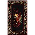 Safavieh Hand-hooked Noel Black Wool Rug - 2'9 x 4'9