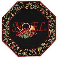 Safavieh Hand-hooked Noel Black Wool Rug - 6' x 6'octagon