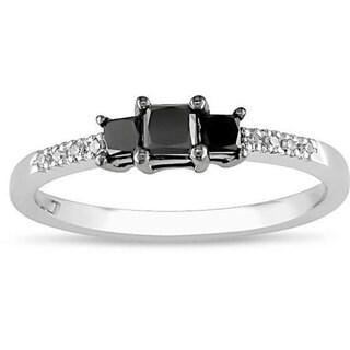 Miadora 10k Gold 1/2ct TDW Black Diamond Ring