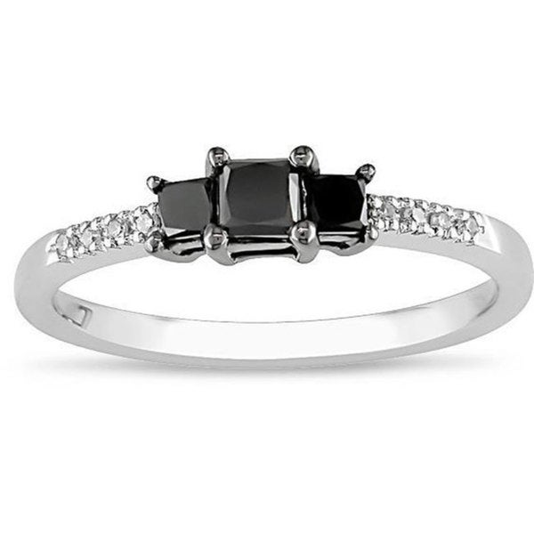 Miadora 10k Gold 1/2ct TDW Black Diamond Ring