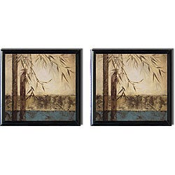 Tita Quintero 'Bamboo Royale I and II' Framed Canvas Set