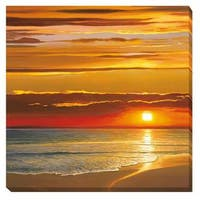 Dan Werner 'Sunset on the Sea' Stretched Canvas