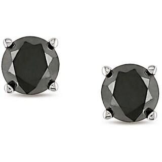 14k Gold 3/4ct TDW Black Diamond Stud Earrings