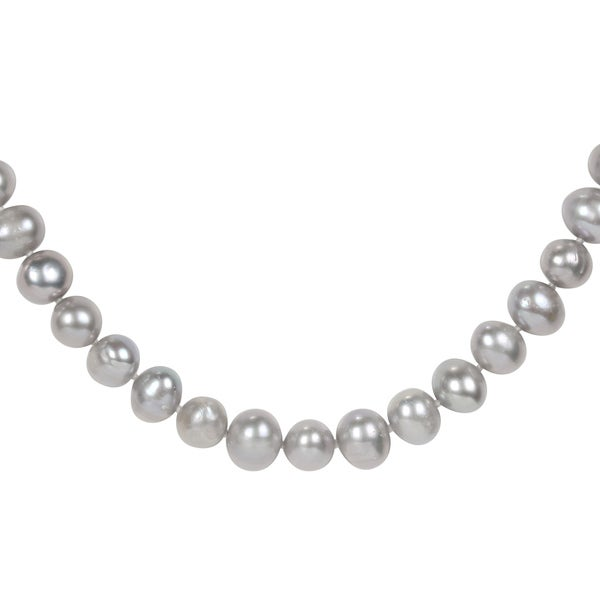 Miadora Grey 9-10mm Cultured Freshwater Pearl Necklace (18-24 inches)