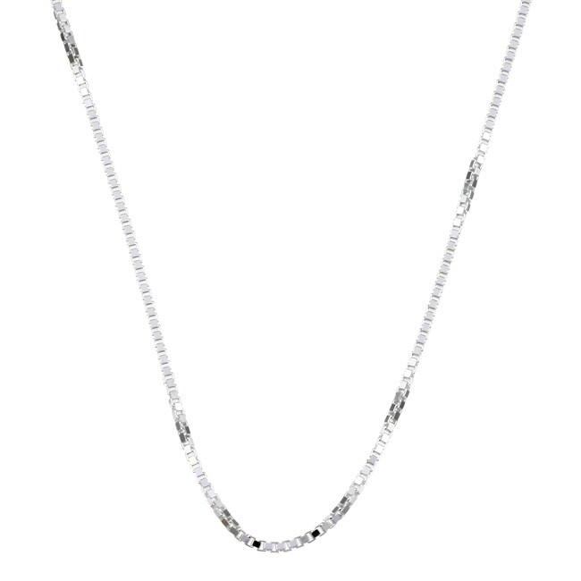 Sterling Essentials Sterling Silver 18-inch Venetian Box Chain (1.5mm)