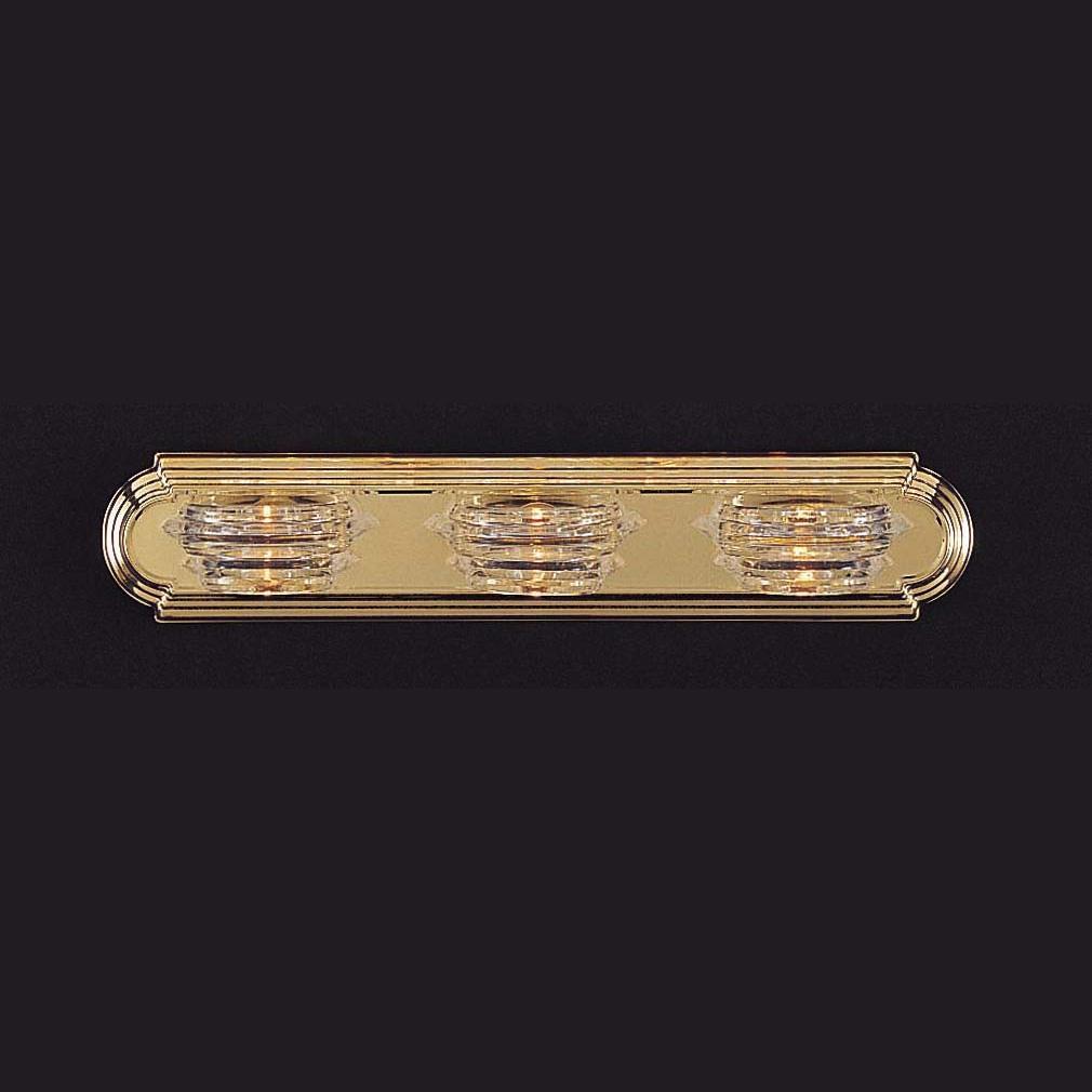 Vanity Black Brass Finish Three-light Fixture