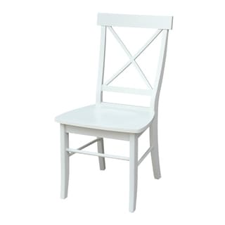 Maison Rouge Middleton Linen White X-back Chairs (Set of 2)