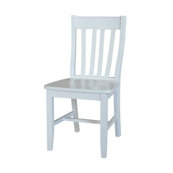 International Concepts White Cafe Chairs (Set Of 2)